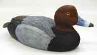redhead duck wood carving